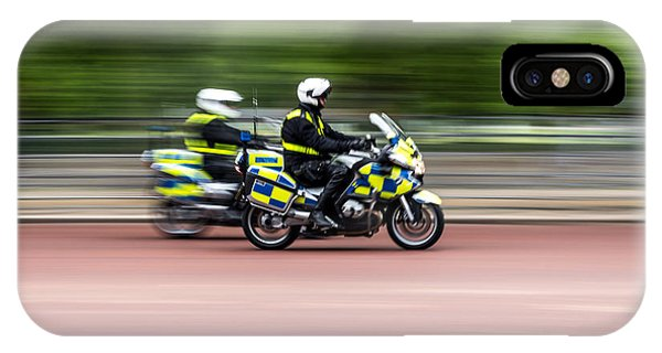 British Police Motorcycle IPhone Case