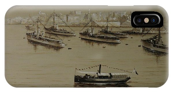 British Warships In Malta Harbour 1941 IPhone Case