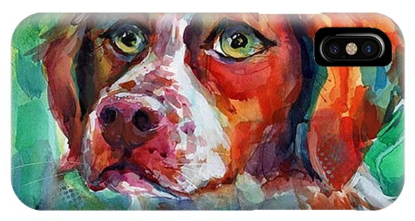 iPhone Case - Brittany Spaniel Watercolor Portrait By by Svetlana Novikova