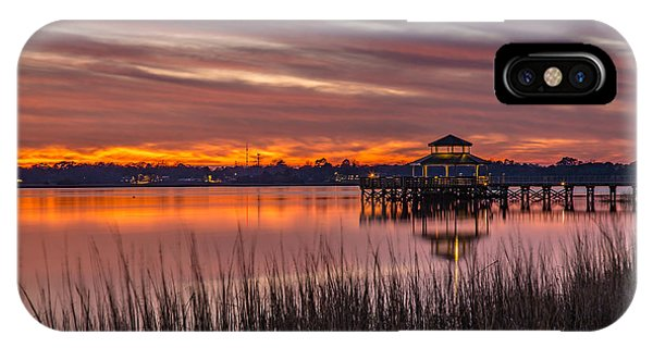 Brittlebank Park Dock Charleston Sc IPhone Case