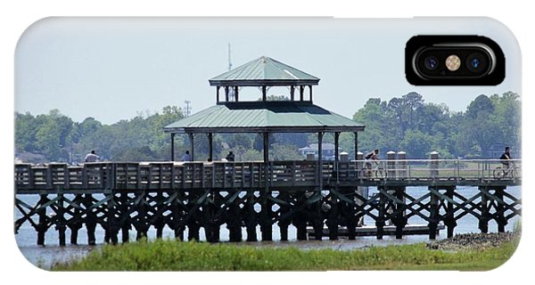 iPhone Case - Brittlebank Park Pier by Lisa Marie Towne