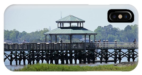 iPhone Case - Brittlebank Park Pier by Lisa Marie Towne