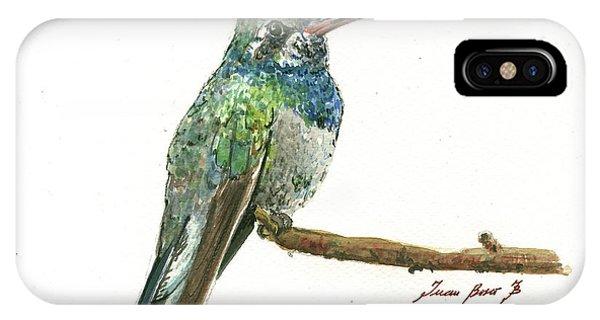 Hummingbird iPhone Case - Broad Billed Hummingbird by Juan Bosco
