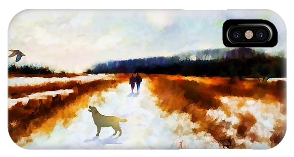IPhone Case featuring the painting Broadland Walk by Valerie Anne Kelly