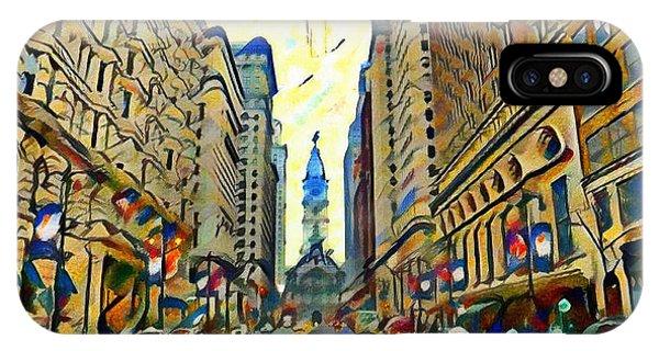 Broadstreet Philadelphia Watercolor IPhone Case