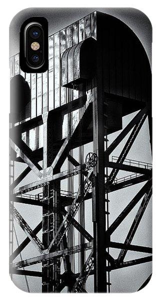 Broadway Bridge South Tower Detail 1 Monochrome IPhone Case