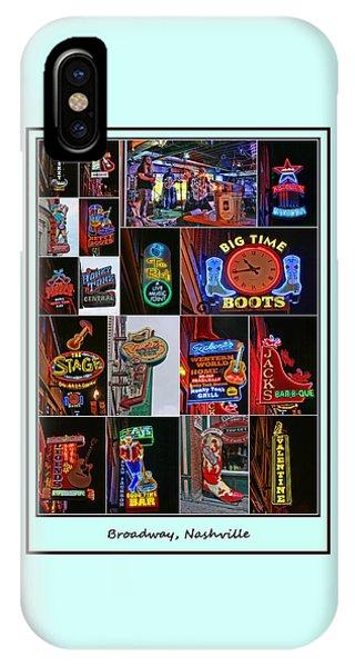 Broadway, Nashville - Collage # 2 IPhone Case