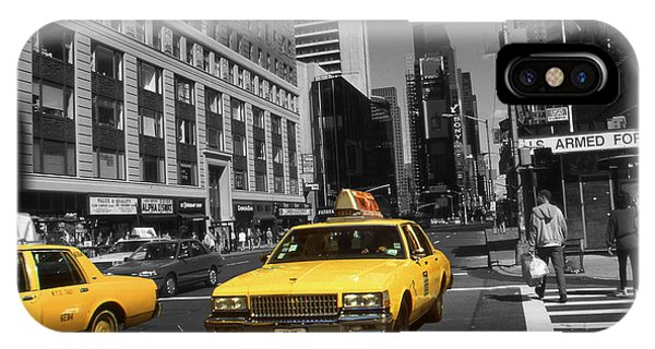 New York Yellow Taxi Cabs - Highlight Photo IPhone Case