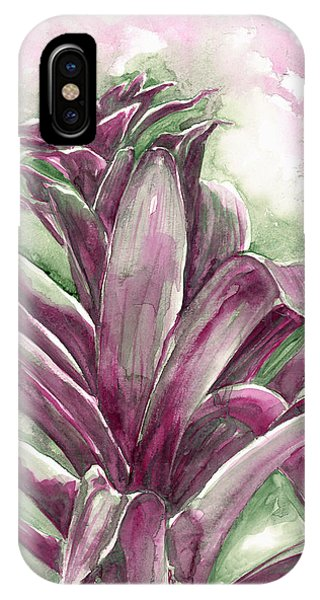 IPhone Case featuring the painting Bromeliad by Ashley Kujan