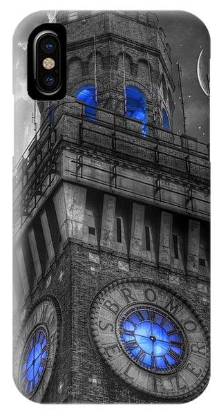 Bromo Seltzer Tower Baltimore - Blue  IPhone Case