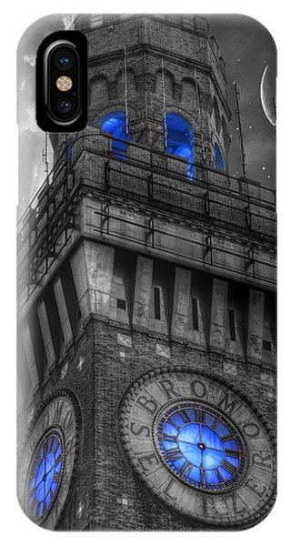 Bromo Seltzer Tower Baltimore - Blue  IPhone Case