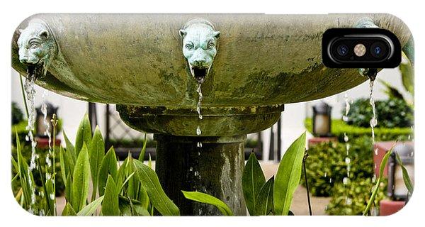 J Paul Getty iPhone Case - Bronze Civit Head Fountain by Teresa Mucha