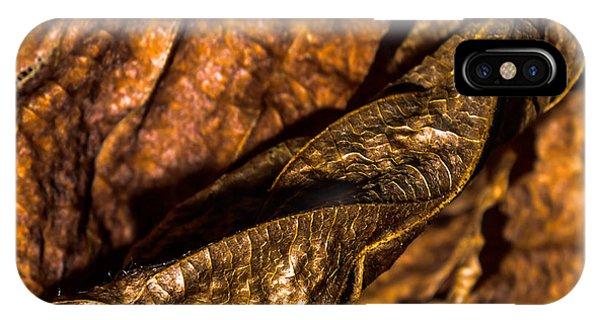 Bronze Leaves IPhone Case