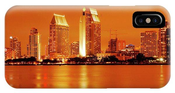 Bronze San Diego Skyline IPhone Case