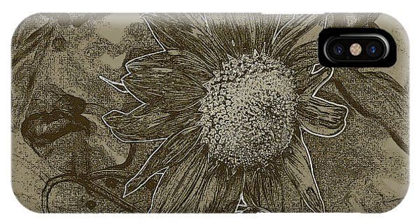 Bronzed Out Sunflower IPhone Case