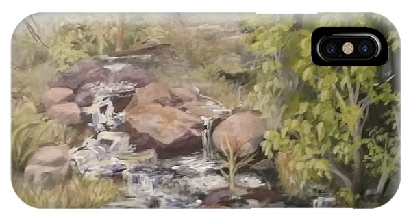 IPhone Case featuring the painting Brook by Saundra Johnson