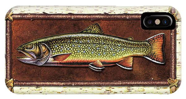 Trout iPhone Case - Brook Trout Lodge by JQ Licensing