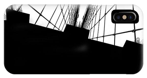Architectural iPhone Case - Brooklyn Bridge Architectural View by Az Jackson