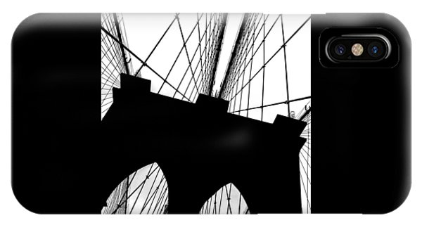 Bridge iPhone Case - Brooklyn Bridge Architectural View by Az Jackson
