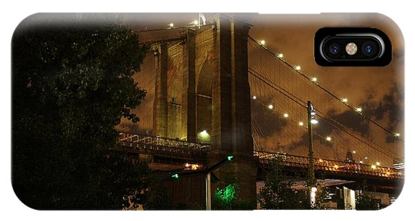 Brooklyn Bridge At Night IPhone Case