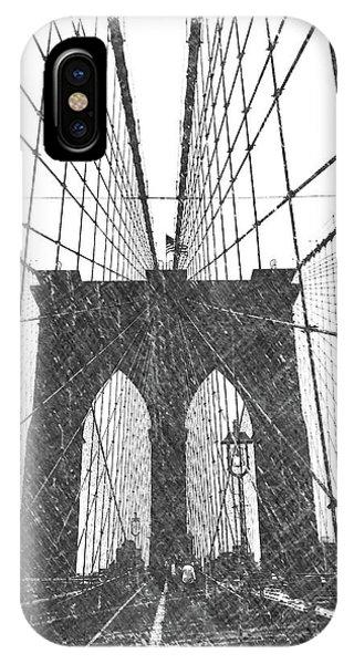 Dick Goodman iPhone Case - Brooklyn Bridge by Dick Goodman