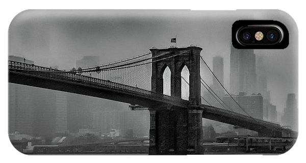 Brooklyn Bridge In A Storm 2 IPhone Case
