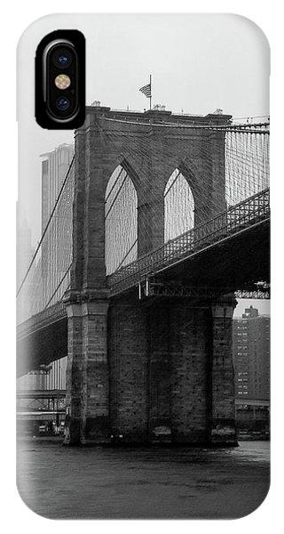 Brooklyn Bridge In A Storm IPhone Case