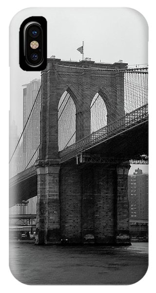 Brooklyn Bridge In A Storm IPhone Case