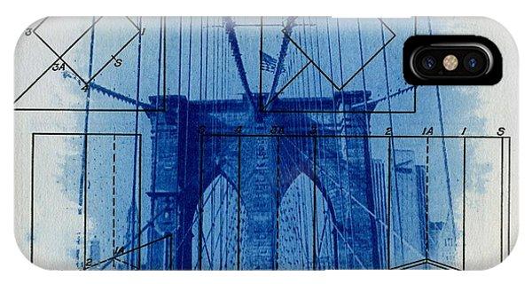 Office iPhone Case - Brooklyn Bridge by Jane Linders