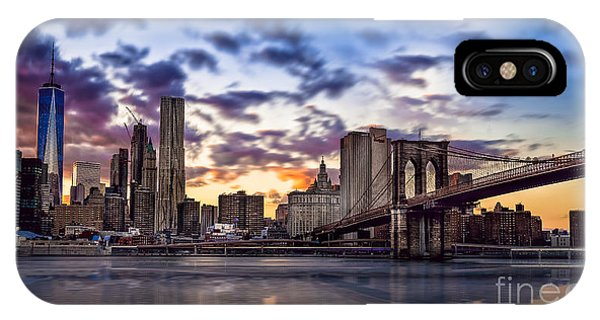 Brooklyn Bridge Manhattan Sunset IPhone Case