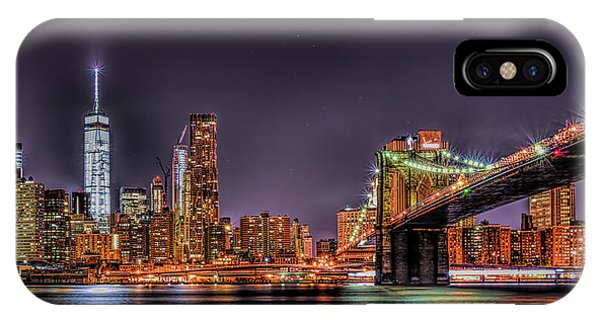 IPhone Case featuring the photograph Brooklyn Bridge Park Nights by Theodore Jones