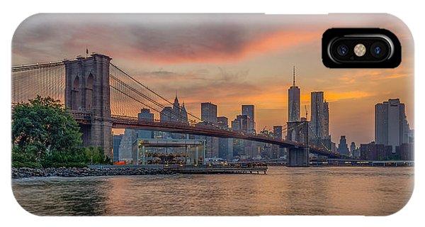 Brooklyn Bridge Summer Sunset IPhone Case