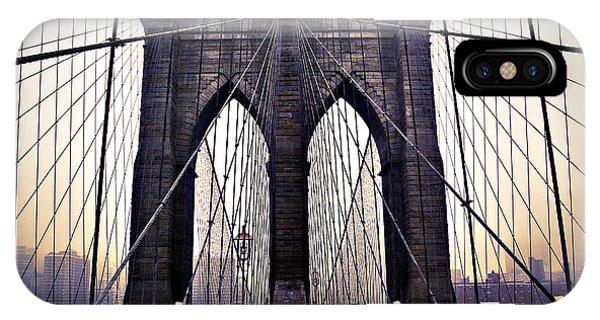 Brooklyn Bridge Suspension Cables IPhone Case