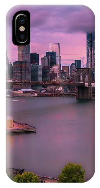 Brooklyn Bridge World Trade Center In New York City IPhone Case
