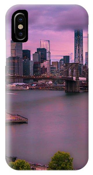 Brooklyn Bridge World Trade Center In New York City IPhone Case