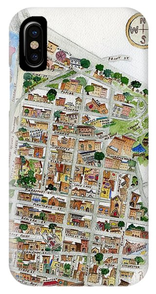 Brooklyn Heights Map IPhone Case