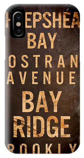 Street Sign iPhone Case - Brooklyn Street Sign II by Mindy Sommers