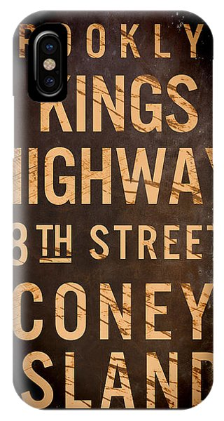 Street Sign iPhone Case - Brooklyn Street Sign by Mindy Sommers