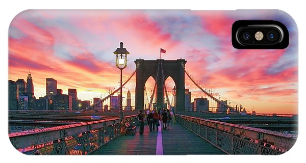Sunset iPhone Case - Brooklyn Sunset by Rick Berk