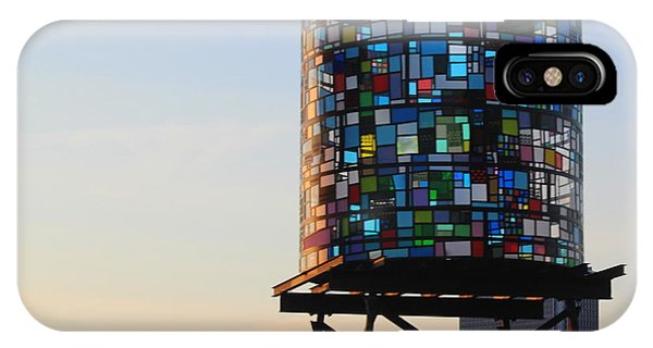 Brooklyn's Glowing Glass Water Tower - Public Art IPhone Case