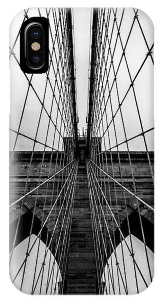Bridge iPhone Case - Brooklyn's Web by Az Jackson