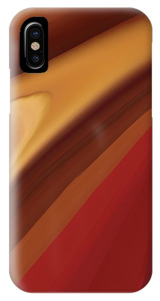 Light Speed iPhone Case - Brown Abstract  by Art Spectrum