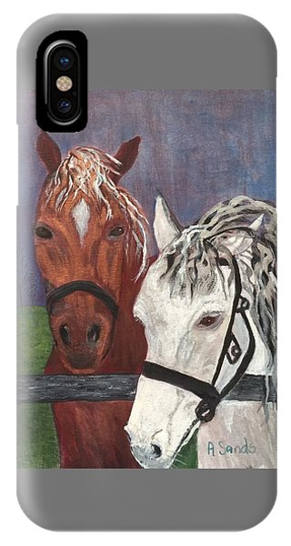 Brown And White Horses IPhone Case