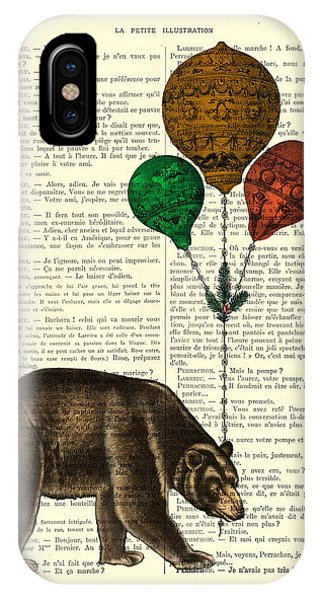 Fall Colors iPhone Case - Brown Bear With Balloons by Madame Memento