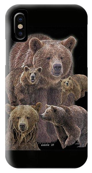 Brown Bears 8 IPhone Case