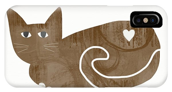 Tabby iPhone Case - Brown Cat- Art By Linda Woods by Linda Woods