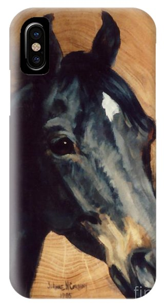 Brown Horse  Tingeys Star Phone Case by JoAnne Corpany