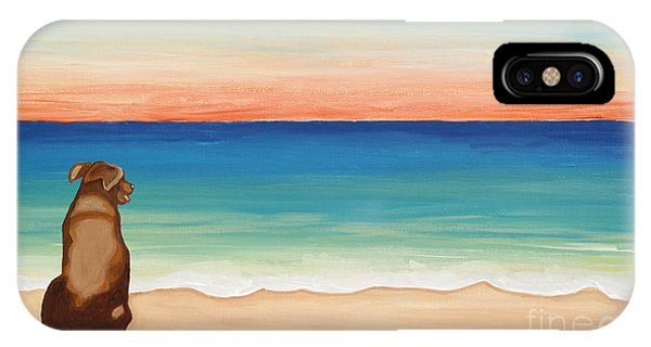 Brown Lab Dog On The Beach IPhone Case