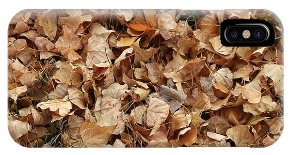 Brown Leaf Carpet IPhone Case