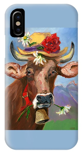 Brown Swiss In Summer Hat IPhone Case